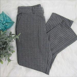 Banana Republic pin strip grey ankle pants size 2